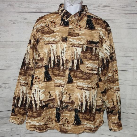 ed15f8ce6b3bb Outdoor Life Shirts | Black Labrador Duck Hunting Shirt Men | Poshmark
